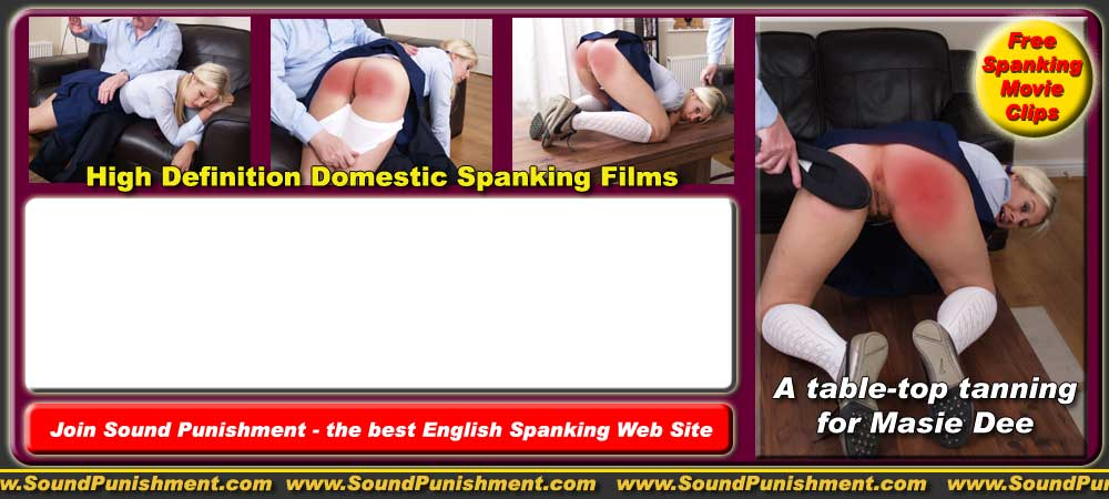Fae Corbin spanked OTK as a naughty schoolgirl in gingham