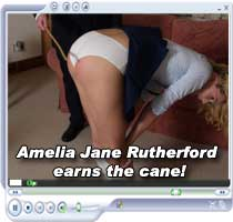 Amelai Jane Rutherford feels the cane