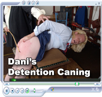 Dani's Detention Caning