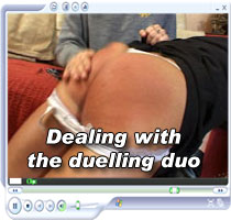 Summer and Lee spanked in High resolution full size spanking video