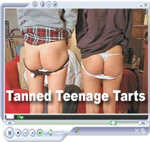 Tanned Teen Tarts High resolution full size spanking video