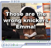 Schoolgirl Emma spanked for wrong knickers